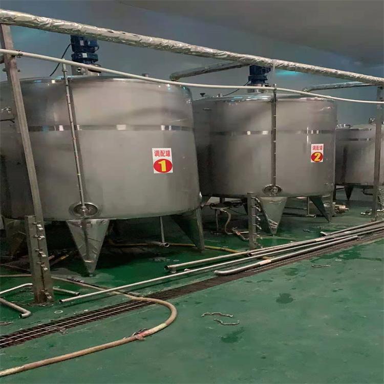 回收二手乳品厂设备 奶罐 保温奶仓 发酵罐
